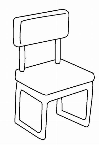 Coloring Silla Chair Colorear Dibujo Template Autocad