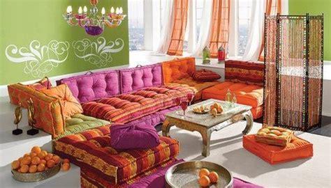canapé style indien salons marocains 2015 colorés déco