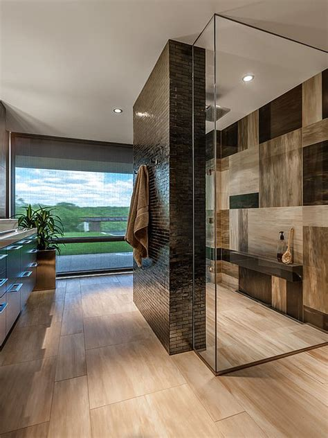 Modern Bathroom And Shower by Five Areas Of Your Home That Look Great Dressed In Tile