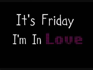 The cure - Friday I'm in love (Lyrics) - YouTube