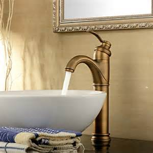 antique inspired bathroom sink faucet antique brass finish