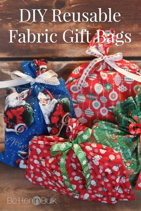 diy reusable fabric gift bags better in bulk