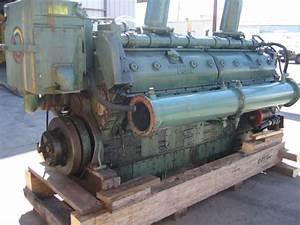 Good Used Detroit Diesel 16v149 930hp Diesel Marine Engine