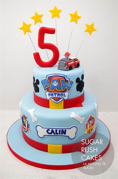 paw patrol cake sugar rush cakes montreal