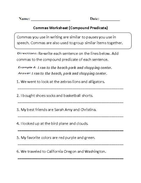 simple and complete predicate worksheets 4th grade 16