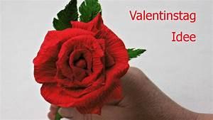 Rosen Selber Basteln : diy valentinstag geschenk rose aus krepppapier basteln ~ Lizthompson.info Haus und Dekorationen