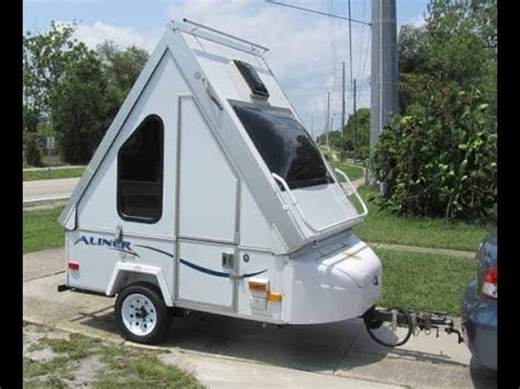 aliner alite smallest motorcycle camper trailer youtube