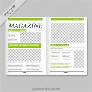 simple magazine template with green details vector free With magazine layout templates free download