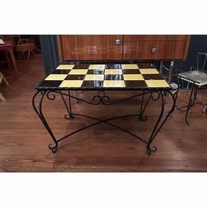 Table Basse Retro : table basse vintage fer carreaux ~ Teatrodelosmanantiales.com Idées de Décoration
