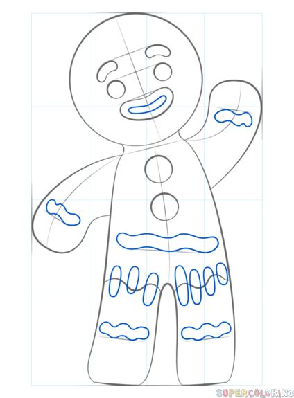 draw  gingerbread man step  step drawing tutorials