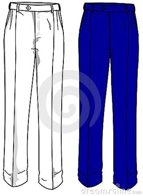 fashion plates formal trousers royalty  stock image