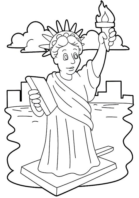 rainbow fish book stunning statue of liberty coloring page download