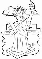 Liberty Statue Coloring Template Stunning Drawing Niagara Falls Clipart Printable Cliparts Easy Adult Clip Getdrawings Getcolorings Library sketch template