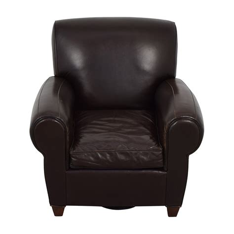 pottery barn pottery barn brown leather chair