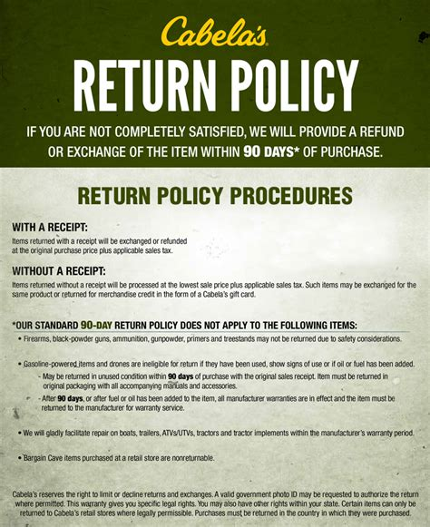 return policy checkout cabela s