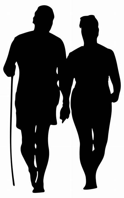 Silhouette Walking Couple Beach Clipart Human Person