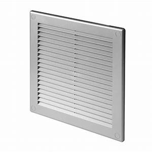Satin Air Vent Grille 250mm X 250mm Grey Wall Ventilation