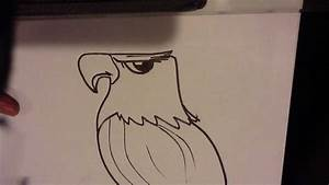 How to Draw an Eagle Head - Easy Things To Draw - YouTube
