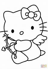 Coloring Cupid Valentine Kitty Pages Hello Drawing Printable Cartoon Lunch Box Valentines Colouring Template Line Clip Clipart Paper Sketch Dora sketch template