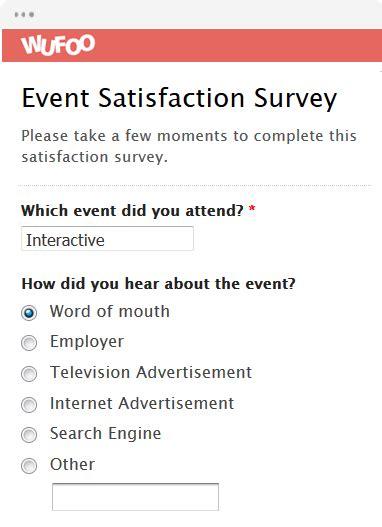 Event Questionnaire Template Event Satisfaction Survey
