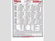 Bihar Government Calendar 2018 – Public, Government