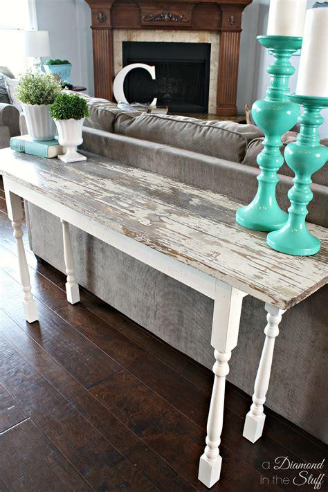 Sofa Table by Diy Salvage Sofa Table