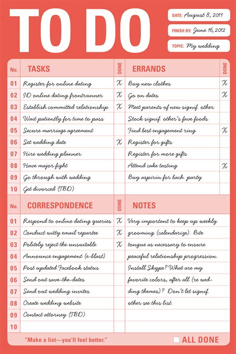 todo checklist to do list wedding free to do list