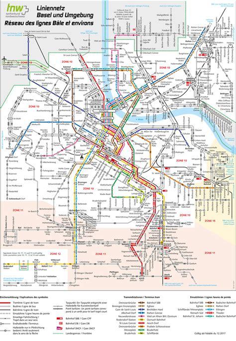 Liniennetz Basel - BLT