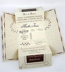 harry potter inspired wedding invitation suite With harry potter wedding invitations template