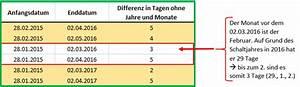 Excel Jahre Berechnen : excel datum differenz mit der funktion datedif berechnen ~ Themetempest.com Abrechnung