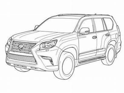 Lexus Gx Toyota Prado Cruiser Land Drawings