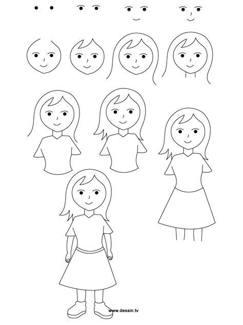 comment dessiner une fille etape par etape