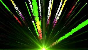 Seamless Animation of abstract colorful green light and ...