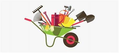 Wheelbarrow Tools Landscaping Gardening Cartoon Ronan Transparent
