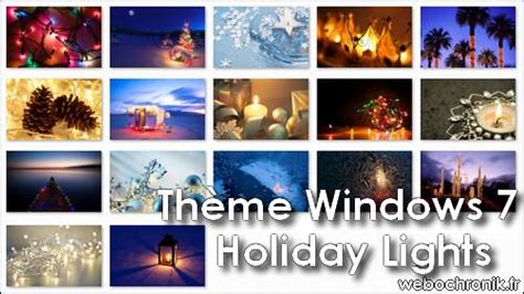 theme de bureau windows 7 thème windows 7 lights spécial noël webochronik