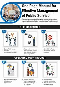 One Page Manual For Effective Management Of Public Service