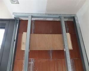 Pose Verriere Sur Placo : construire une cloison en place pouvant accueillir une ~ Melissatoandfro.com Idées de Décoration