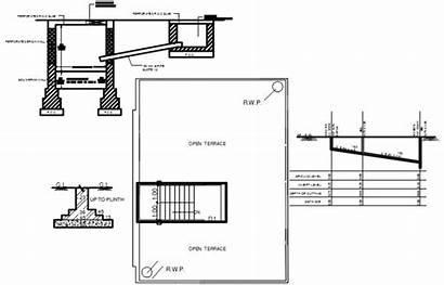 Plan Concrete Slab Brick Dwg Terrace Foundation