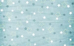 Blue Stars Pattern Wallpaper
