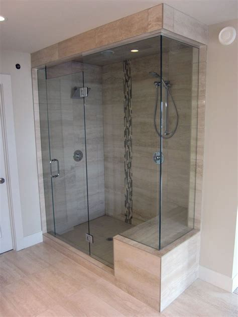 shower glass door tile master bath remodel pinterest