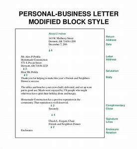 50 business letter template free word pdf documents With modified block letter template word
