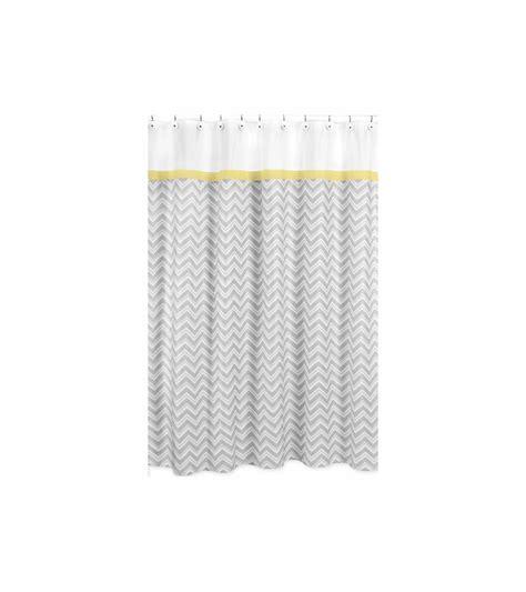 Sweet Jojo Chevron Curtains by Sweet Jojo Designs Zig Zag Yellow Grey Chevron Shower