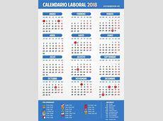 Calendario laboral 2018 Semana Santa, puentes y días festivos