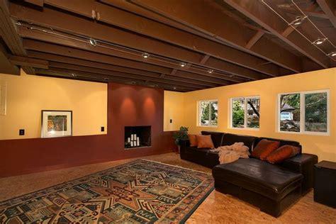 unfinished basement ceiling ideas inspiration decorating