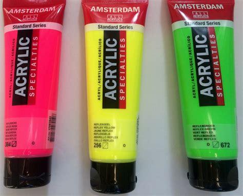 amsterdam neonfarben malen mit acryl