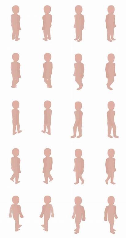 Human Basic Isometric Animation Opengameart
