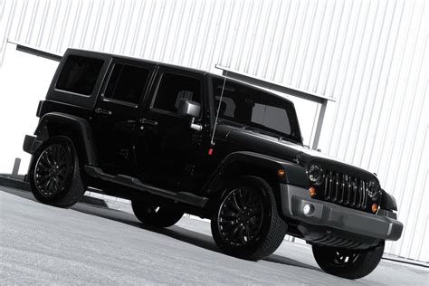 Kahn Design Murdered Out Jeep Wrangler Unlimited   Car Tuning