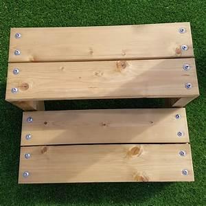 Escalier 4 Marches : pack escalier 4 marches en largeur 60cm en bois autoclave pour le jardin ~ Melissatoandfro.com Idées de Décoration