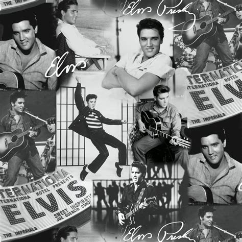 Muriva Presley Collage Wallpape Black And White (102544