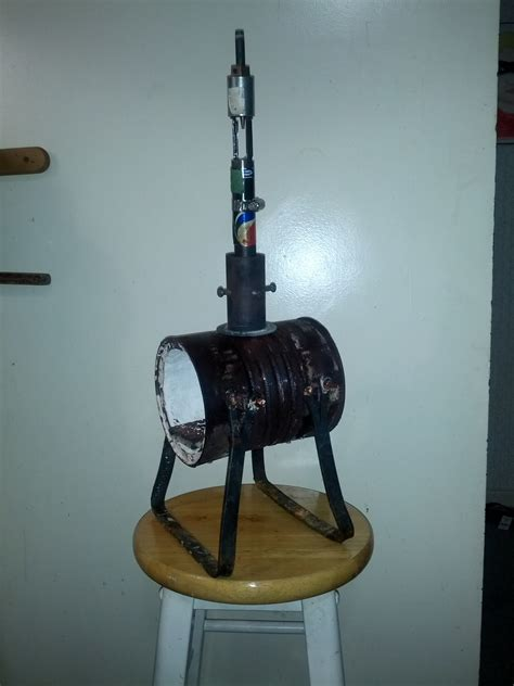 This is a simple diy forge, made from a coffee can and homemade refractory with materials that can be found at any hardware stores. Coffee can forge for getting started again - Gas Forges - I Forge Iron